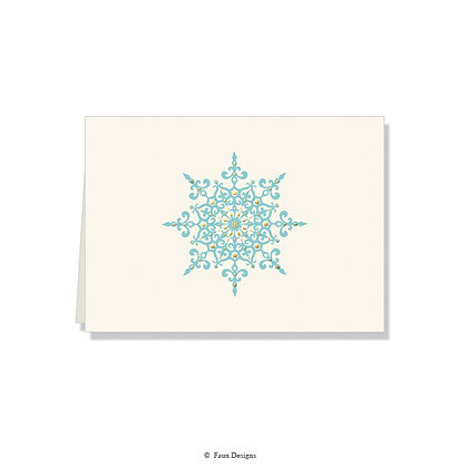 Snowflake Folded Note