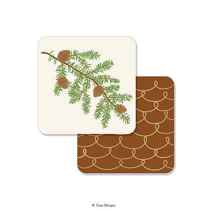 Pine Bough Coaster