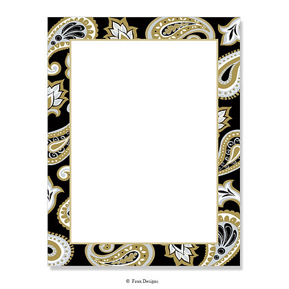 Jasmine Black, Gold 8.5 x 11 Sheet
