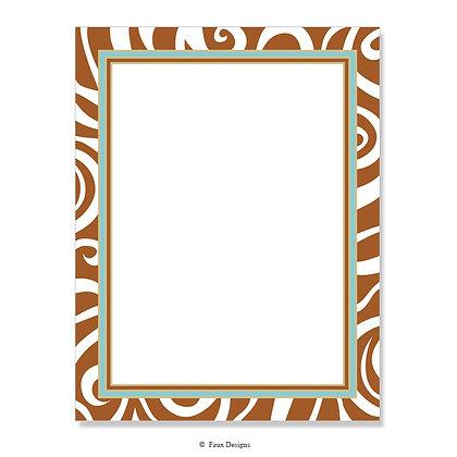Safari Brown, Aqua 8.5 x 11 Sheet