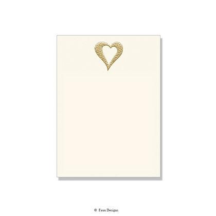 Gold Heart Invitation - Blank