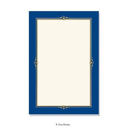 Chapelle Blue Invitation - Blank