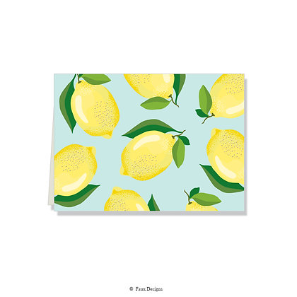 Lemons Folded Note