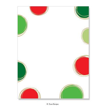 Joie Red, Green 8.5 x 11 Sheet