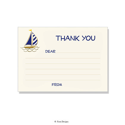 Sail Boat Fill-in Thank You Note