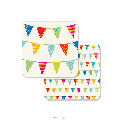 Party Banner Coaster