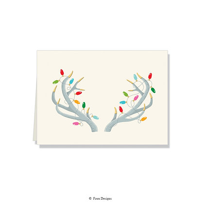 Holiday Antlers Folded Note