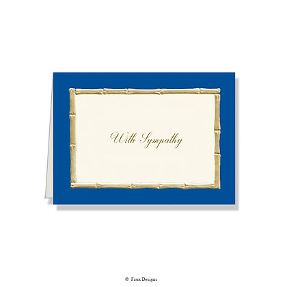 With  Sympathy - Bamboo Blue