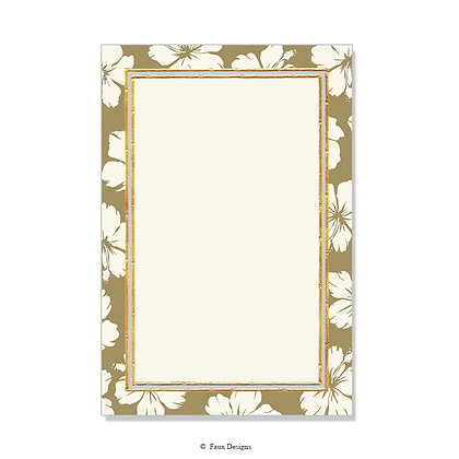 Hibiscus Gold Invitation - Blank