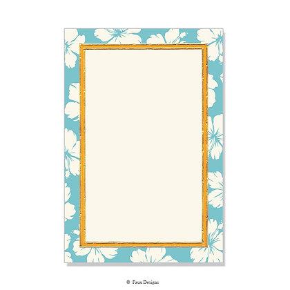Hibiscus Oxford Blue Invitation - Blank