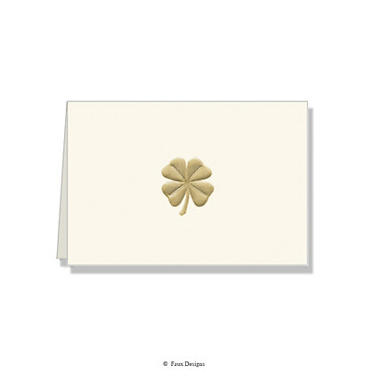Four Leaf Clover Folded Note
