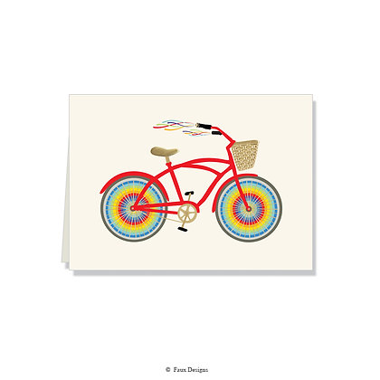 Rainbow Bicycle Folded Note