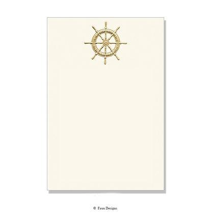 Gold Navigator's Wheel Invitation - Blank