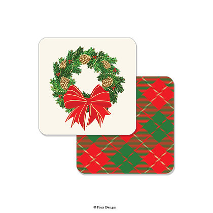 Holiday Wreath Coaster