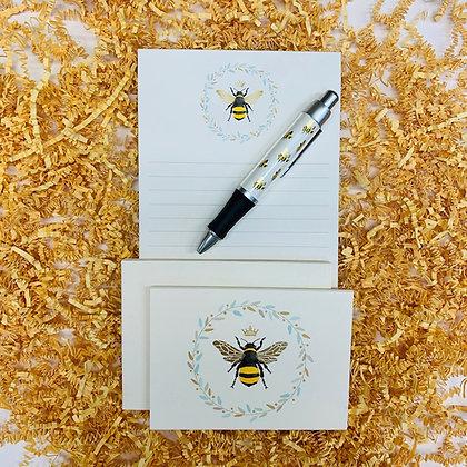 Queen Bee Memo Pad & Folded Note Set