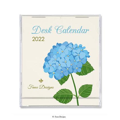 2022 Desk Calendar Hydrangea