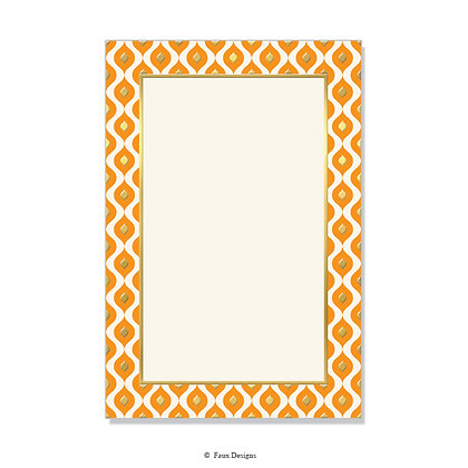 Mendoza Orange Invitation - Blank