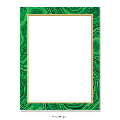 Villa Malachite 8.5 x 11 Sheet