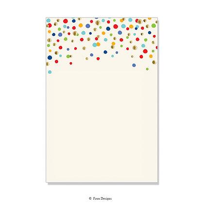 Confetti Multi Invitation - Blank