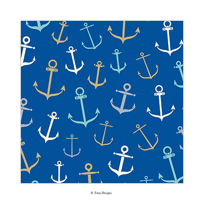 Whimsical Anchors Gift Wrap