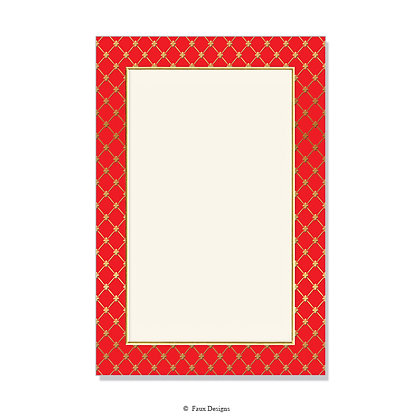Noble Red Invitation - Blank