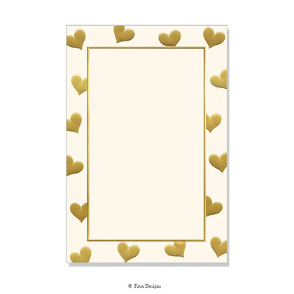Sweetheart Gold/Ivory Invitation - Blank