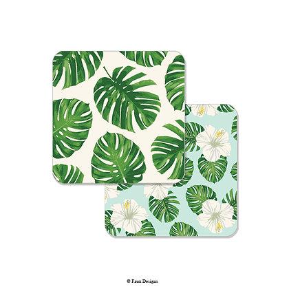 Tropical Leaf Coaster