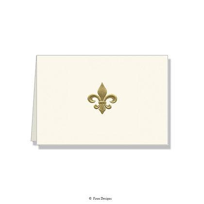 Fleur-de-lis Folded Note