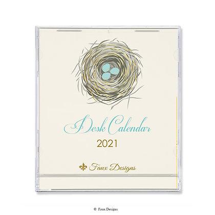 2021 Desk Calendar Nest