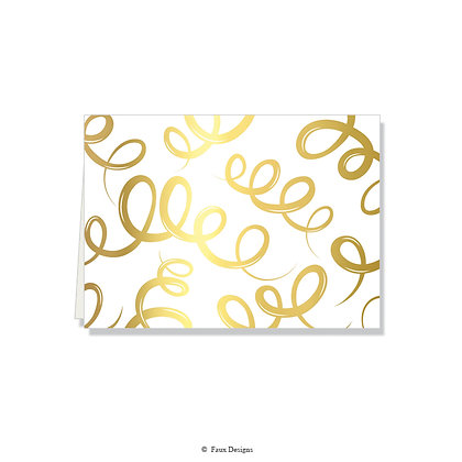 Champagne Gold Folded Note