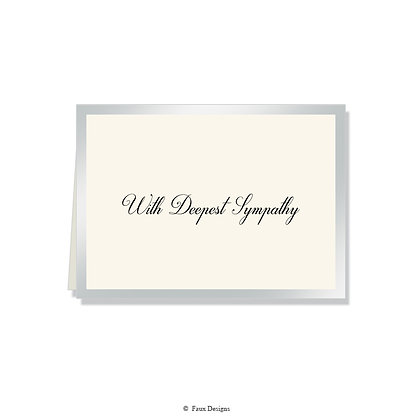 With Deepest Sympathy - CB Silver on Ivory