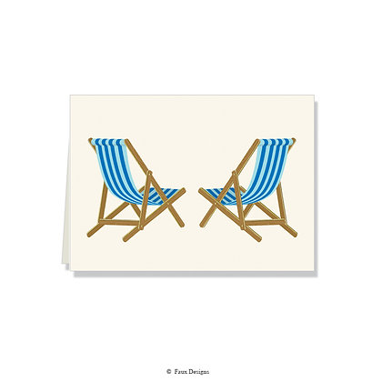 Blue Beach Chairs Folded Note