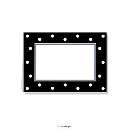 Black & White Dots Folded Note