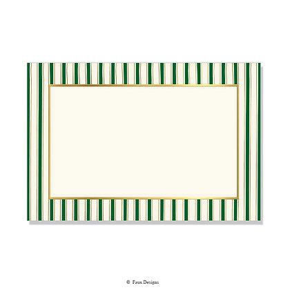 Chilmark Hunter Green Invitation - Blank