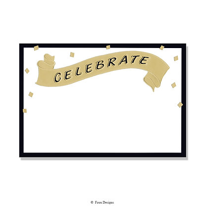 Celebrate Banner Invitation - Blank