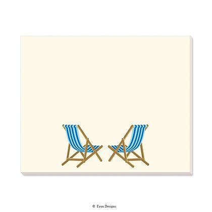 Beach Chairs Blue Desk Pad