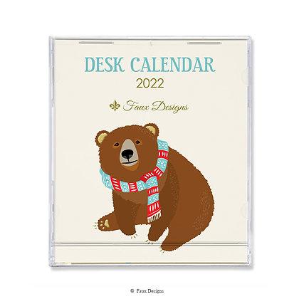 Bear 2022 Desk Calendar