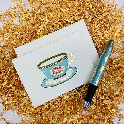 Teacup Folded Note & Pen Set