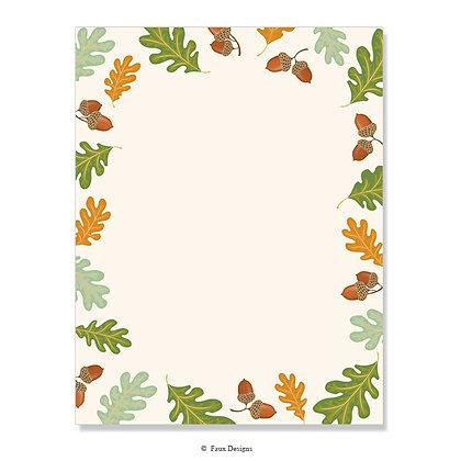 Acorn & Leaves 8.5 x 11 Sheet