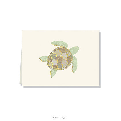 Sea Turtle Folded Note
