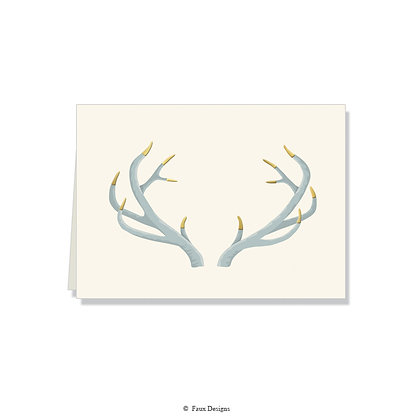 Antlers Folded Note