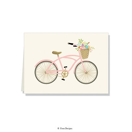 Floral Bicycle Folded Note