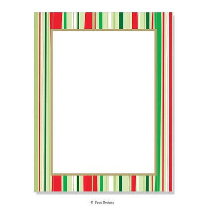 Festive Stripes 8.5 x 11 Sheet