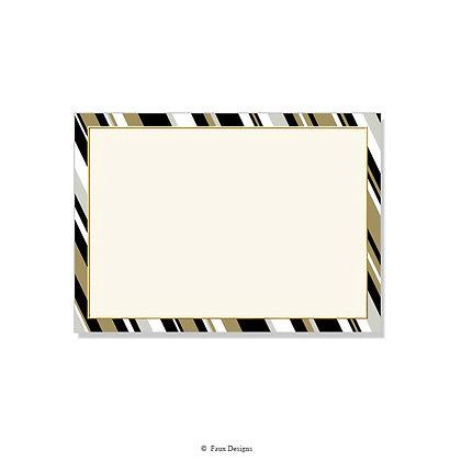 Fairfield Black, Gold Invitation - Blank