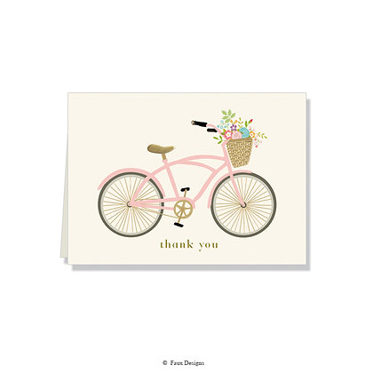Thank You - Floral Bicycle