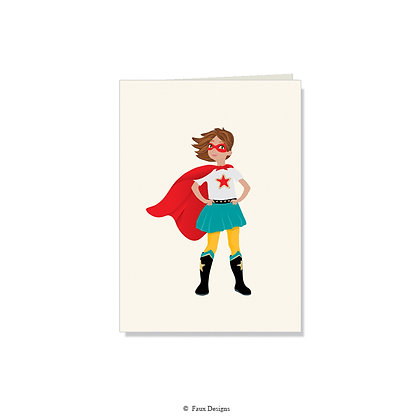 Wonder Girl Folded Note