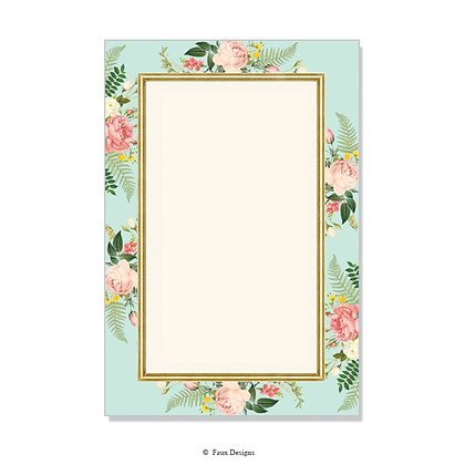 Posy Mint Invitation - Blank