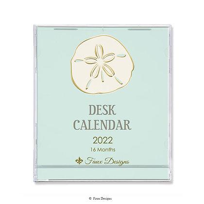 Sand Dollar 16-Month 2021-2022 Desk Calendar