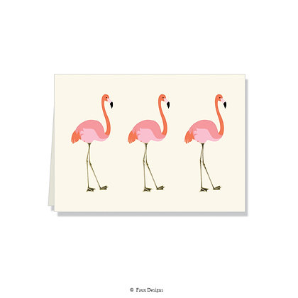 Flamingo Folded Note