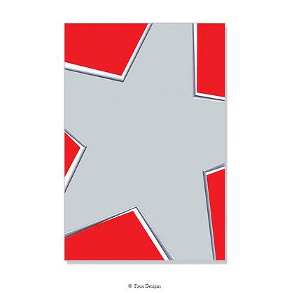 Sparkle Red, Silver Invitation - Blank